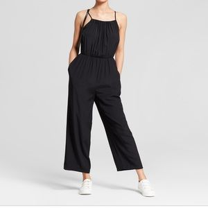 Mossimo jumpsuit with shirred neckline
